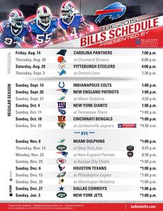 2015 Buffalo Bills schedule released