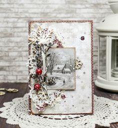 """Vintage Cafe Card Challenge: Открыточно-страничное задание """"Зимнее настроение"""""""