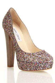 Jimmy Choo Fenner Pump In Glitter - Beyond the Rack