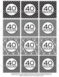40th birthday printables - Google Search