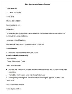 Sample Sales Rep Resume Template , Write Your Resume Much Easier with Sales Resume Examples , Sales resume examples are usually easy to find with various formats and writing methods. Sales resume itself covers wide ranges of sales such as insur... Check more at http://templatedocs.net/write-your-resume-much-easier-with-sales-resume-examples