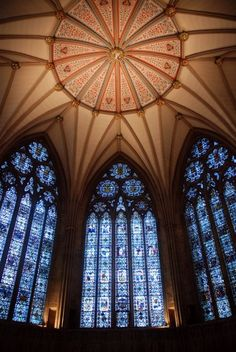 Inside the York Minster (cathedral) in York, England