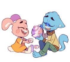 Gumball and Anais in Mike Milo Style