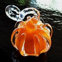 Flame Your Own Pumkin Glass Pendant