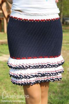 Вяжем юбочку для девочки | Женская одежда крючком. Схемы и описание Crochet Skirts, Crochet Crop Top, Knit Skirt, Dress Patterns, Crochet Patterns, Crochet Baby Clothes, Crochet Art, Crochet Diagram, Hand Knitting