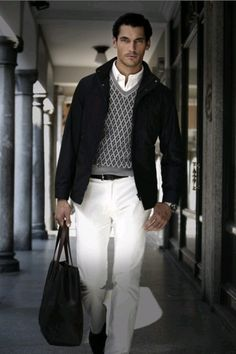 David Gandy. Few men can wear white pants like he can.