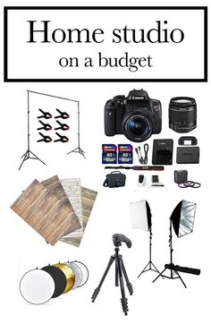 Online Photography Jobs - Everything you need for a home photography studio on a budget - Jennadesigns Photography Jobs Online Photography Jobs, Photography Lessons, Photography Equipment, Light Photography, Photography Tutorials, Digital Photography, Portrait Photography, Photography Studios, Landscape Photography