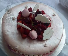 Communion, Birthday Cake, Baby Shower, Desserts, Food, Birthday Cakes, Meal, Baby Sprinkle, Deserts