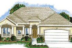 Exterior - Front Elevation Plan #20-1370 - Houseplans.com