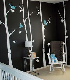 Wall decal, dark walls= fabulosity