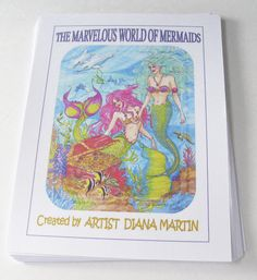 Coloring Book mermaids fantasy adult style 40 pages beautiful art gift