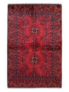 One-of-a-Kind Rugs by Bashian Fine Red Afghan Rug