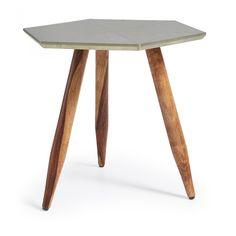 Table Oqui ovale extensible 120-200 cm, naturel et marron   Tables ...
