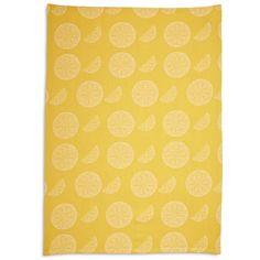 Lemon Slice Jacquard Kitchen Towel | Sur La Table