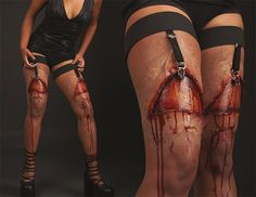 There are too many sexy kitties and sexy witches at costume parties. Keep the spirit of dressing up in horrific - but still sexy - manner with these ripped...