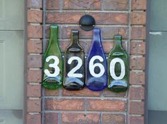 fused glass projects | Fused Bottle Glass House Number Project - Glass With A PastGlass With ...