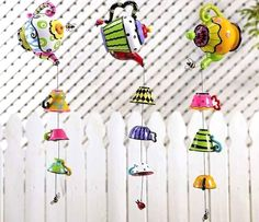 Windchimes Topsy Turvy Tea Pot