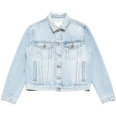 Pre-owned Frame Denim Jacket (1.709.510 IDR) ❤ liked on Polyvore featuring outerwear, jackets and blue jackets