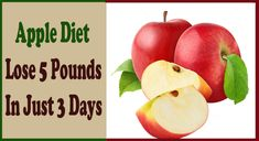 The Most Effective Apple Diet – Lose 5 Pounds in Just 3 Days | Apple diet is one of the most precisely because of brevity and the results that are given. Apples have minimal amount of calories and for a period of 3 days you can lose up to 5 pounds.