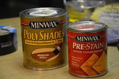 Polyshades and pre-stain is recommended when staining wood.