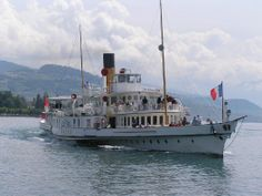 Swiss Steamer - Lac Leman Steamer, Paddle, Sailing Ships, Switzerland, Boat, France, Culture, How To Plan, Lake Geneva