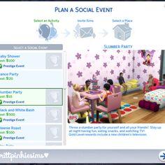 Resultado de imagem para the sims 4 bps Slumber Party Mod