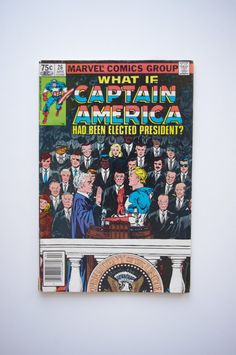 """Marvel What If #26 - """"What if Captain America Had Been Elected President"""" - VF (8.2) - Captain America by ThisCharmingManCave on Etsy  https://www.etsy.com/listing/271632952/marvel-what-if-26-what-if-captain"""
