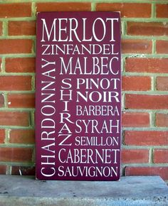 List of Wines Sign