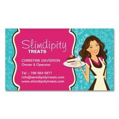 Whimsical Bakery Business Card. Make your own business card with this great design. All you need is to add your info to this template. Click the image to try it out!