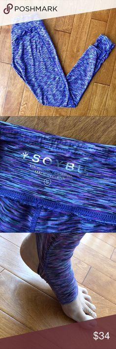Purple soybu long stirrup leggings, size Small Like new. Soybu leggings. Soybu Pants Leggings