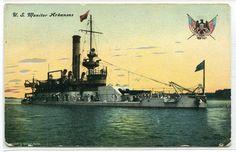 US Monitor Arkansas US Navy Battleship Ship 1908 postcard