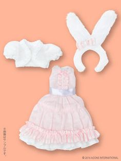 Pure Neemo Size - PNS White Rabbit's Fashion One-piece Set / Pink (DOLL CLOTHING)(Released)(ピュアニーモサイズ PNS 白うさぎさんのファンシーワンピセット ピンク(ドール用衣装))