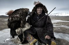 Mongolian eagle hunter in the Altai Mountains of western Mongolia.