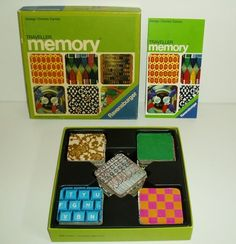 Vintage Charles Eames 1974 Memory Game Ravensburger Boxed with Instructions   eBay - One of Randy's first games by age three he could find them all.  Great fun for him.  Nana