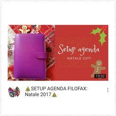Oggi video setup natalizio della mia agenda #christmas2017 #setupagenda #planner #planneraddicted #christmassetup