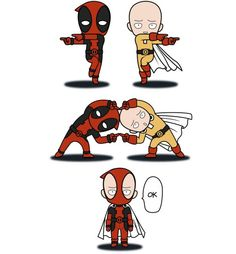 ONE PUNCH MAN & DEADPOOL CROSSOVER #opm #deadpool