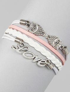 Pink 'Love' Cord Bracelet