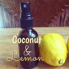 Fresh Picked Beauty: Coconut and Lemon Hand Sanitizer Spray