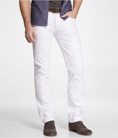 Express Mens Rocco Colored Slim Fit Skinny Leg Jean White White, W32 L30