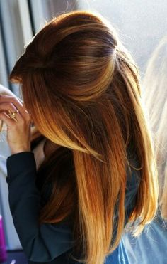 Inspiration coiffure 2016 : Ombre hair roux broux