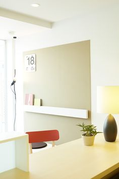Large calender, numbers/dates in office/doctors exam room.