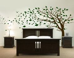 Interior Wall Decal Headboard in Bedroom Design | wall quotes decals