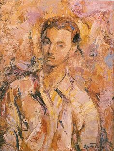 Alejandro Otero, Auto-retrato, 1943 Painting, Kinetic Art, Teachers, Venezuela, Portraits, Historia, Artists, Painting Art, Paintings