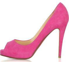 Louboutin Pink Peep Toes