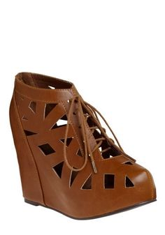 Polygon Shopping Wedge | Mod Retro Vintage Wedges | ModCloth.com - StyleSays
