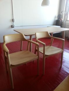 Beautiful! Maruni Hiroshima Dining Table + 2 Chair in Vinegar Hill, Brooklyn ~ Apartment Therapy Classifieds