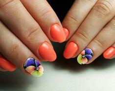 Ногтеманияк | Маникюр, ногти, идеи дизайна Beach Nail Art, Beach Nail Designs, Flower Nail Designs, Beach Nails, Flower Nail Art, Toe Nail Designs, Acrylic Nail Art, Gel Nail Art, Pedicure Nail Art