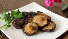 Roasted Shiitake with mashed garlic