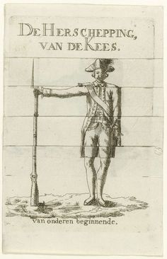 Spotprent op patriotse vrijkorpsen, 1787, anoniem, 1787
