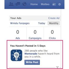 Facebook To Page Admins: You Haven't Posted In X Days